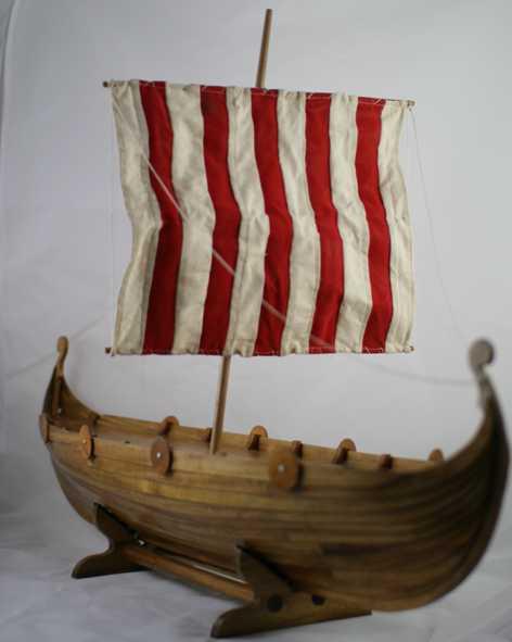 1 Upright viking longboat urn