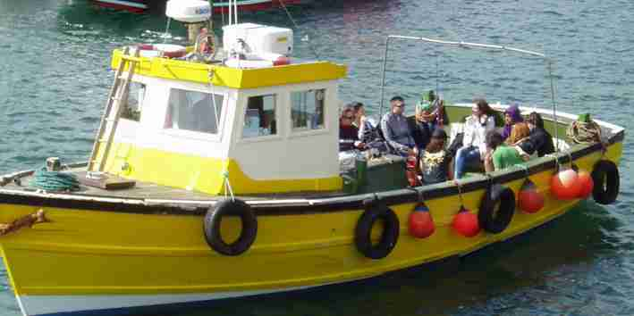 boat in Scarborough for scattering ashes