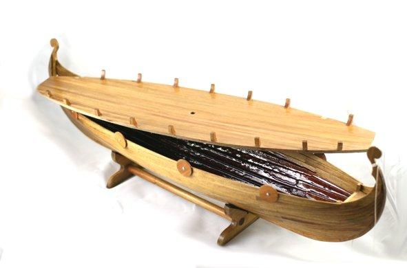 pagan viking longboat urn